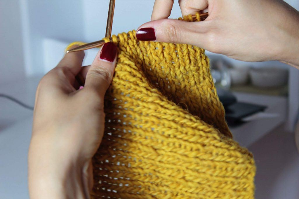 Try out a new hobbie like knitting.