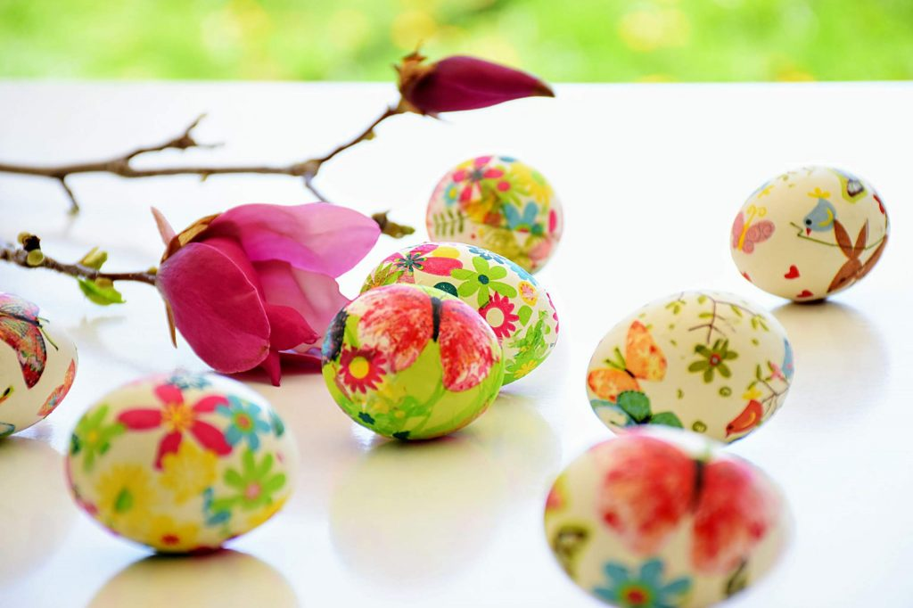 Throw a virtual egg painting party for Easter Sunday.