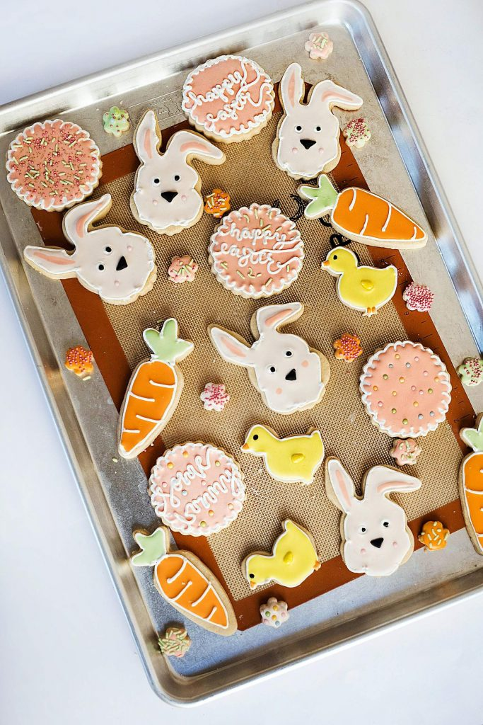 Bake and decorate cookies while in quarantine this Easter Sunday.