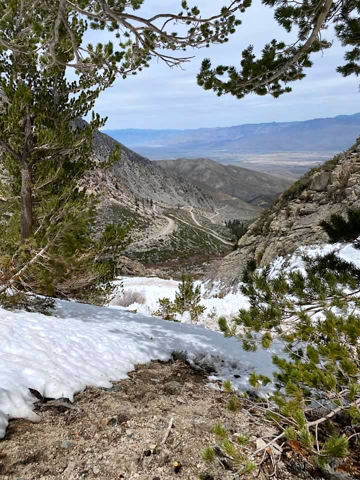 The snowslide was near Independence, about an hour south of Bishop on Highway 395.