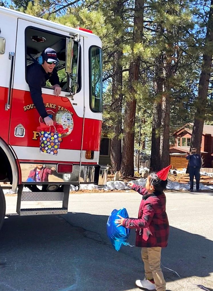 Nehemian Valenzuela turned 7 years old on Wednesday and was treated to a fire truck parade.