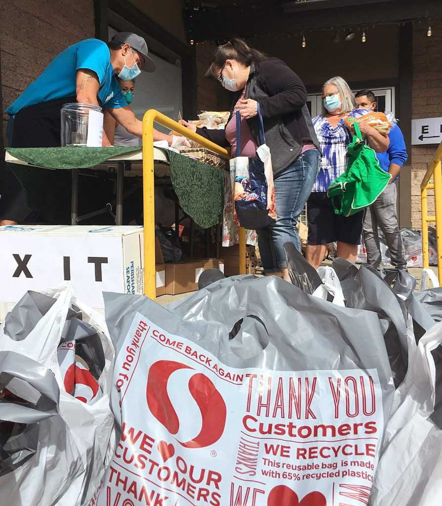 Overland Meat gave away 1,200 pounds of ground beef this week.