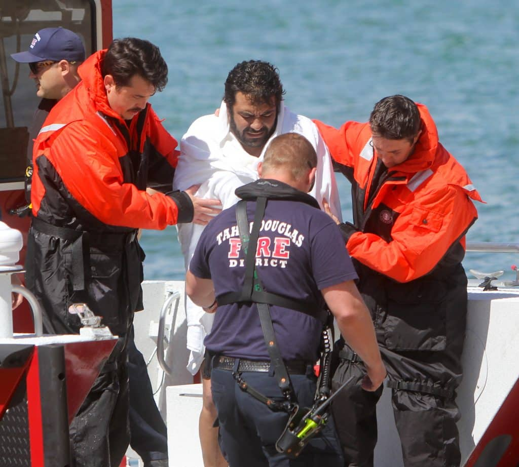 A man was rescued Wednesday after his kayak capsized on Lake Tahoe.