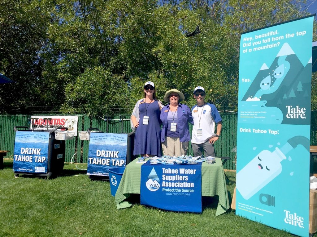 TWSA staff provided Tahoe Tap hydration at the annual Tahoe Summit.