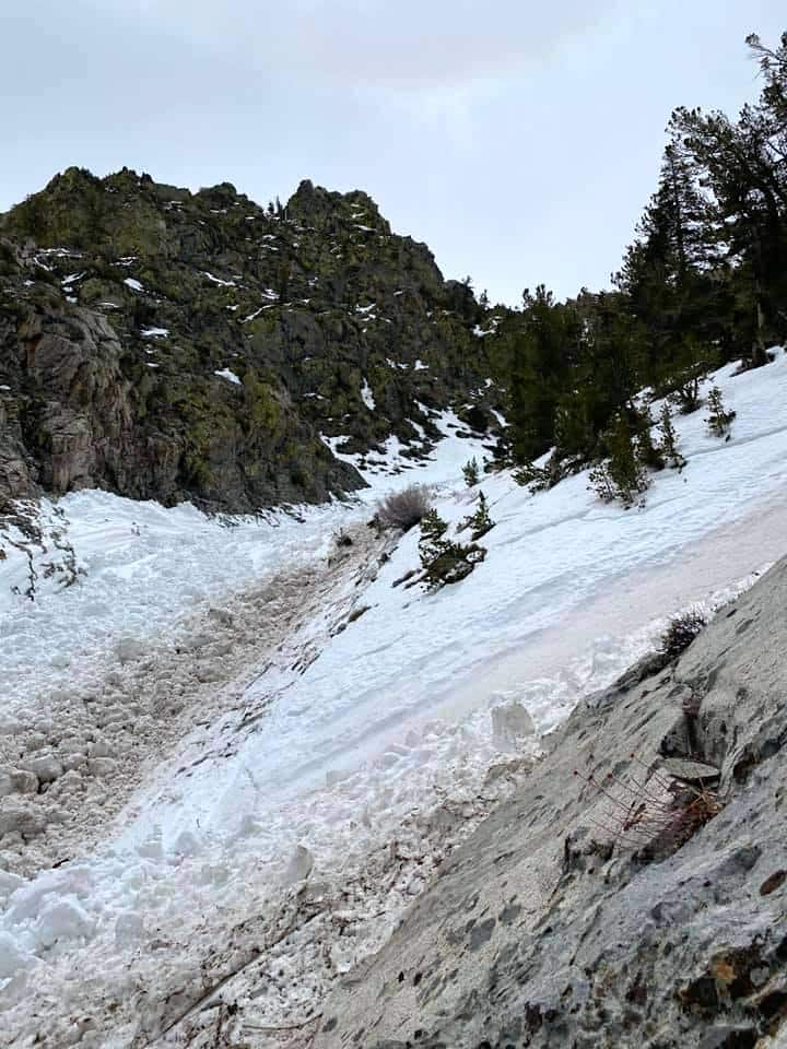 A Lake Tahoe pair was caught up in an avalanche Wednesday.