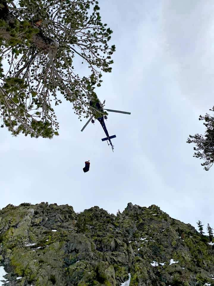 A Lake Tahoe woman was airlifted after being injured in an avalanche Wednesday morning near Independence.