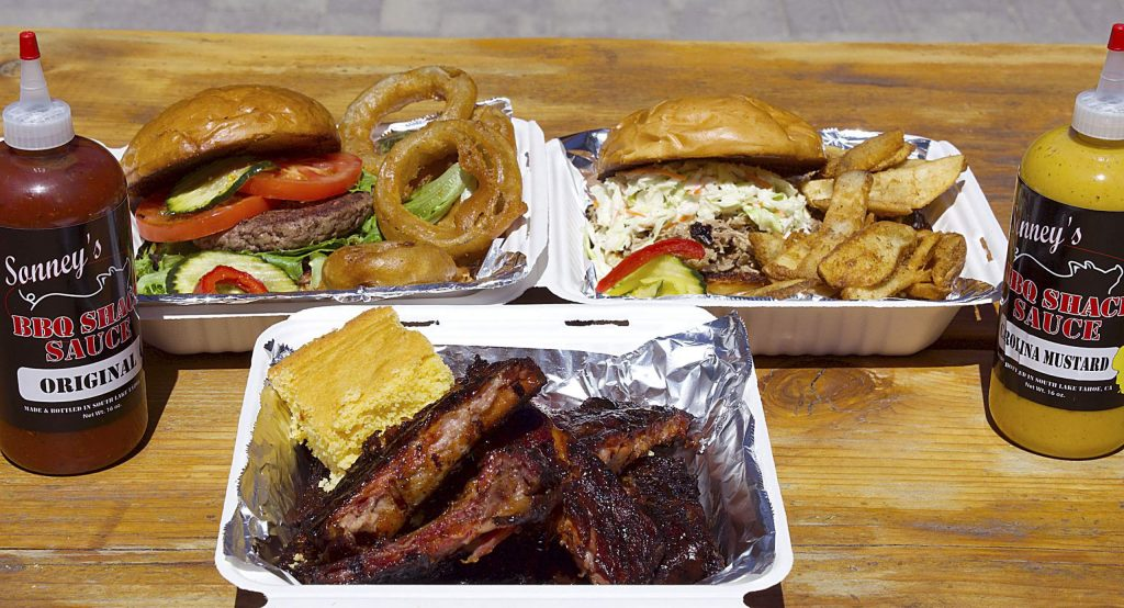 Sonney's offers some of the best barbecue in Lake Tahoe.