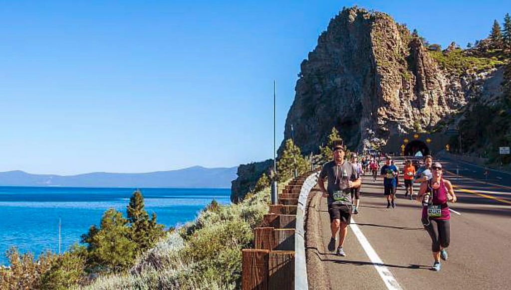 The Rock Tahoe marathon in 2018.