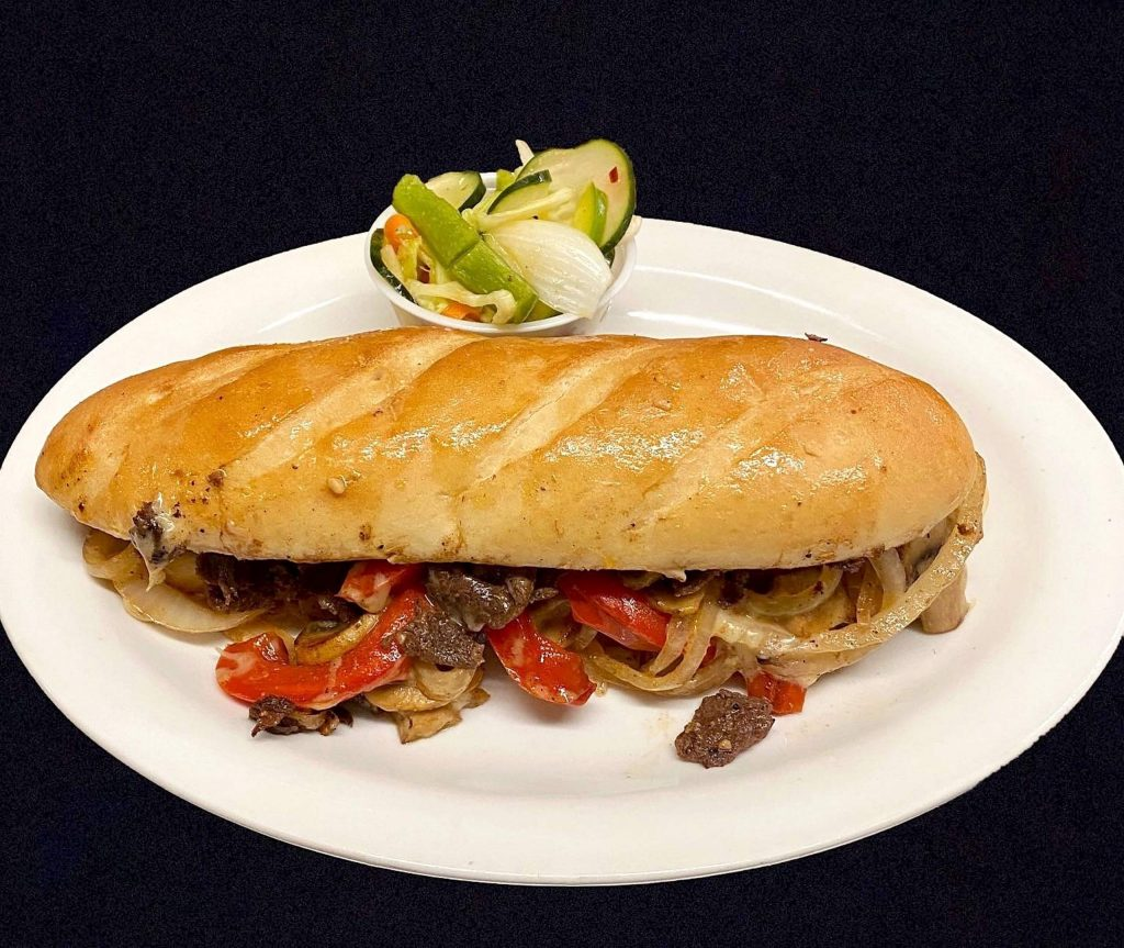 Tep's skirt steak sandwich