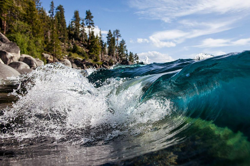 Dylan Silver captures images from beneath Tahoe's surface.