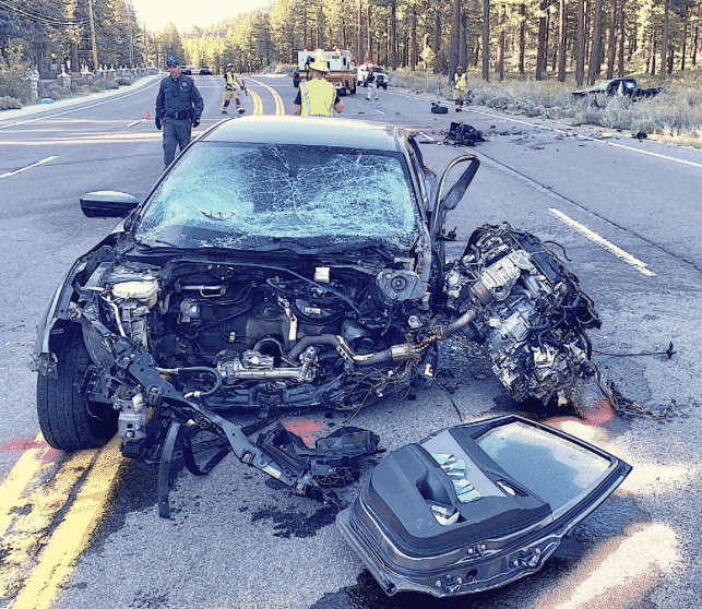 A head-on collision Monday evening shutdown U.S. Highway 50 for over an hour.