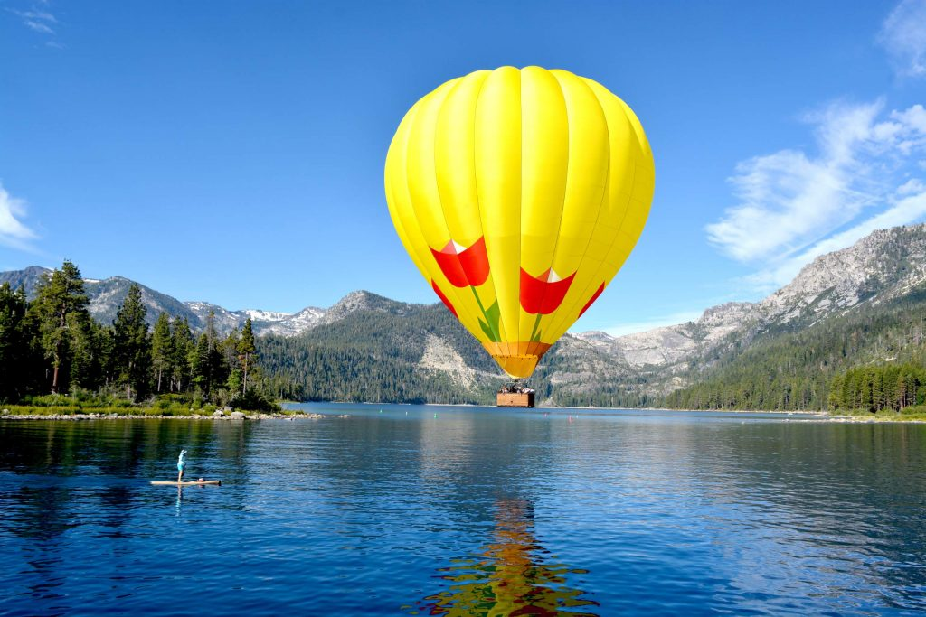 From champagne on the boat to gorgeous views from the basket of a hot air balloon, Lake Tahoe Balloons has perfected the ideal Tahoe morning.
