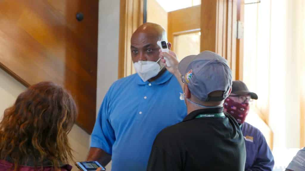 Charles Barkley gets medically cleared upon entering Edgewood Tahoe.