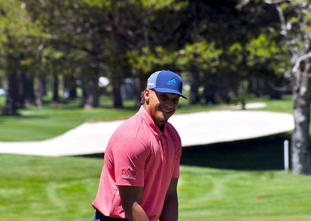 Kansas City Chiefs star quarterback Patrick Mahomes is making his first appearance at the American Century Championship.