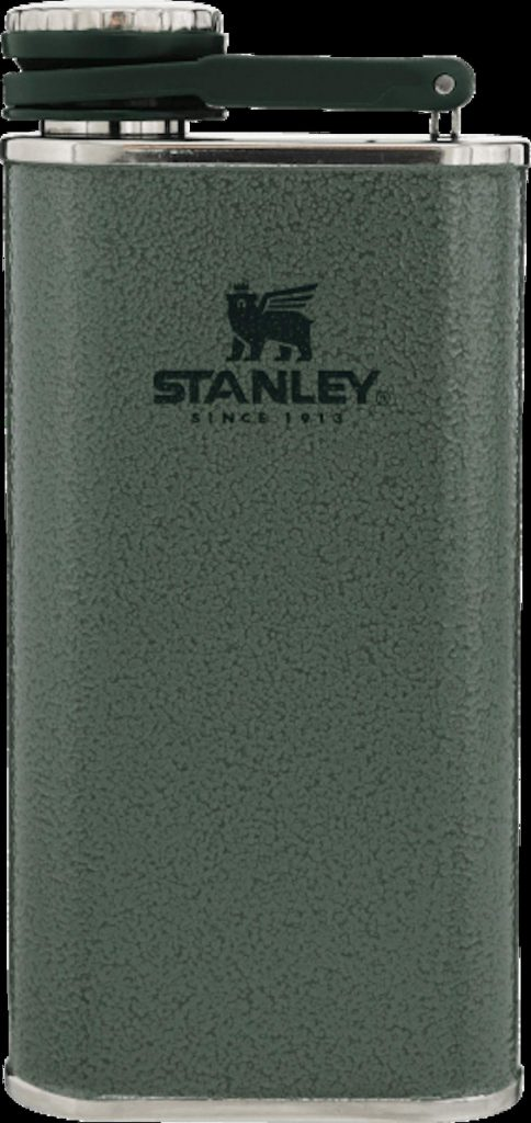 Keep your spirits secure in the durable, leakproof Stanley Wide Mouth Flask. www.stanley-pmi.com / $25