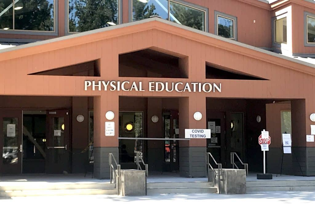 The Physical Education building at Lake Tahoe Community College, where testing is being hosted.