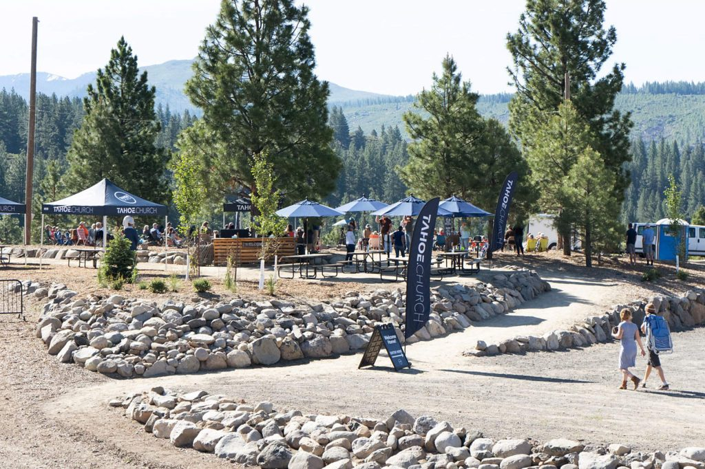 Tahoe Forest Church finished their outdoor amphitheater last year.