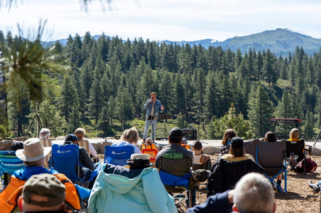 Tahoe Forest Church is able to continue in-person with their outdoor services. The photo pictured is from Summer 2019.