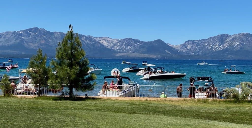 Lake Tahoe boaters respected the social distancing guidelines at the ACC.