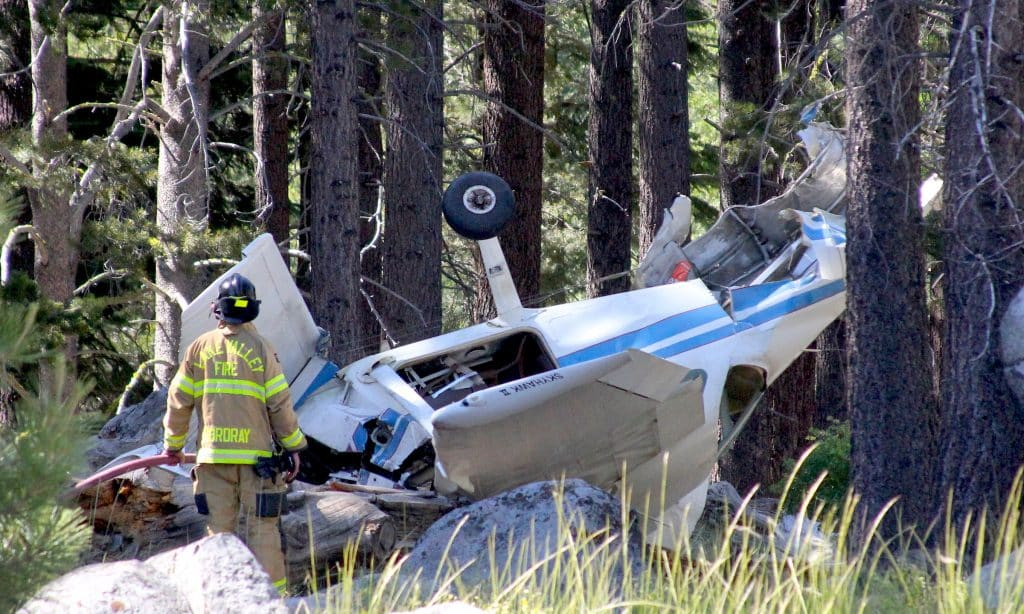 A small plane crashed Tuesday in Meyers.