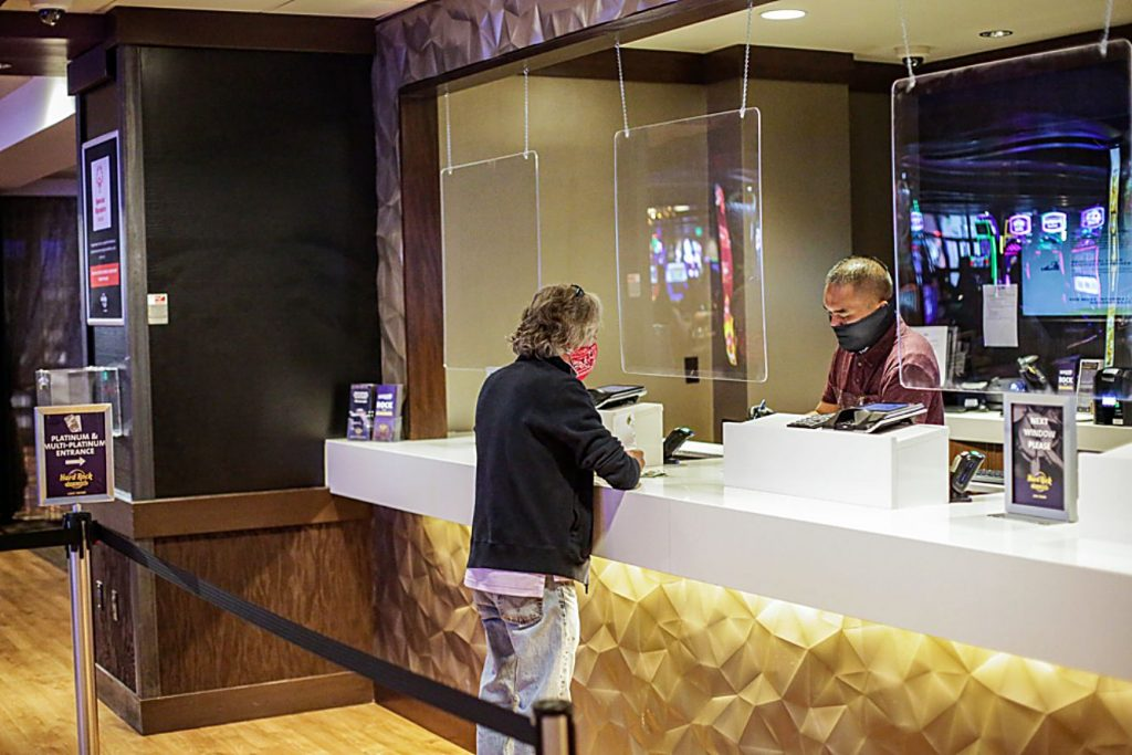 Safety measures have been put in place to protect staff and guests at Hard Rock.