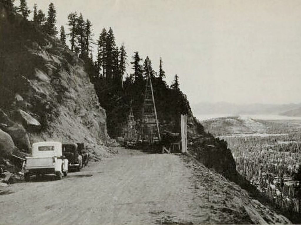 The orginal bridge for Echo Summit was built in 1939.
