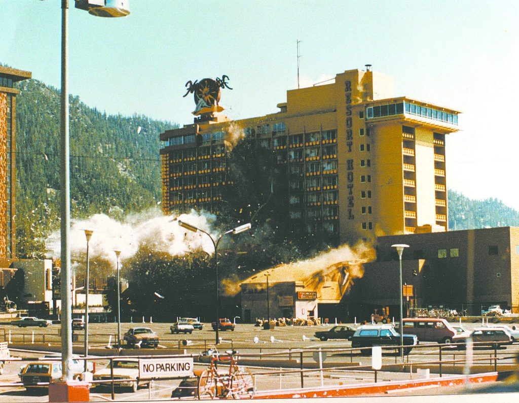 After the casino corridor was evacuated, technicians detonated a bomb left in Harveys along with an extortion note.