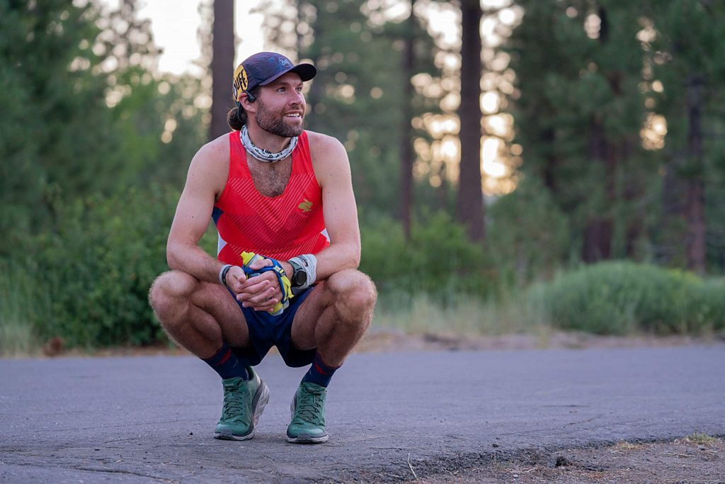 Adam Kimble finished the Tahoe Rim Trail with the fastest known time. Kimble completed the roughly 172-mile loop in 37 hours, 12 minutes, 15 seconds.