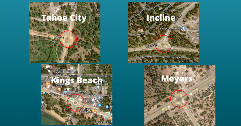 The four locations where demonstrations are expected Friday and Sunday.