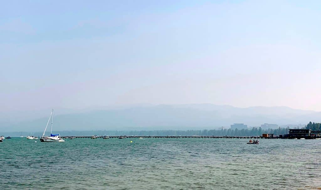 Smoke has made air quality poor at Lake Tahoe.
