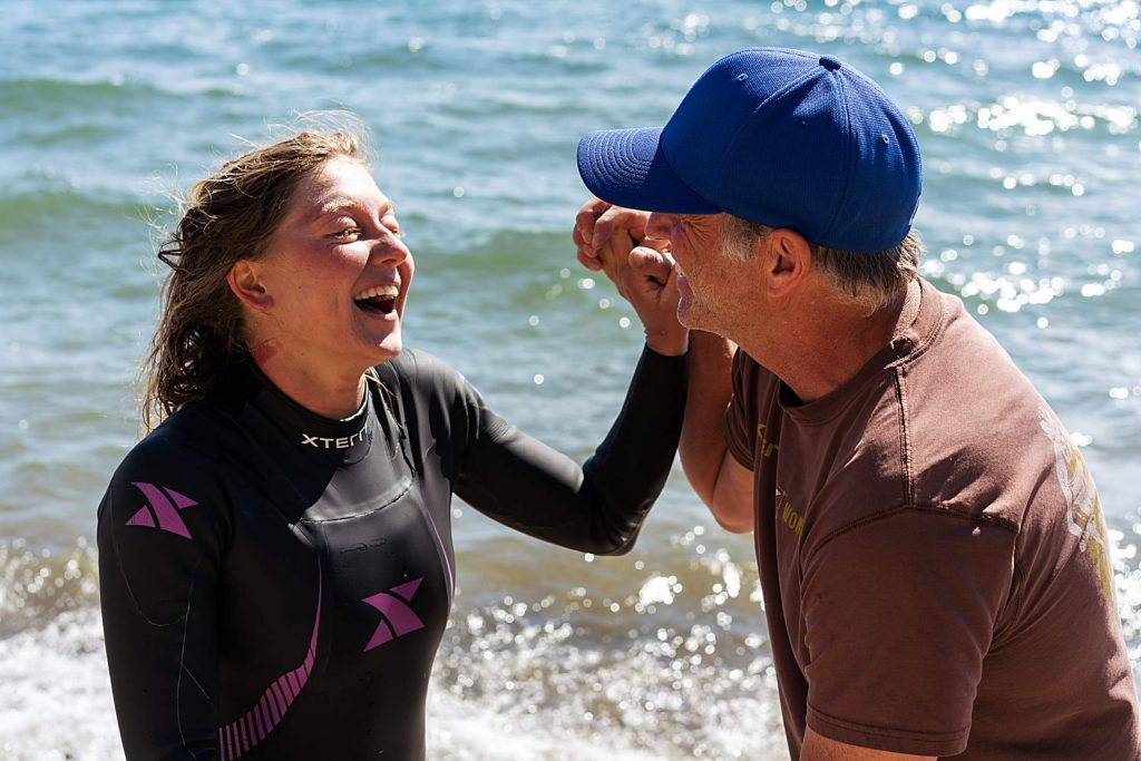Incline Village's Kate Rye swam across Lake Tahoe.