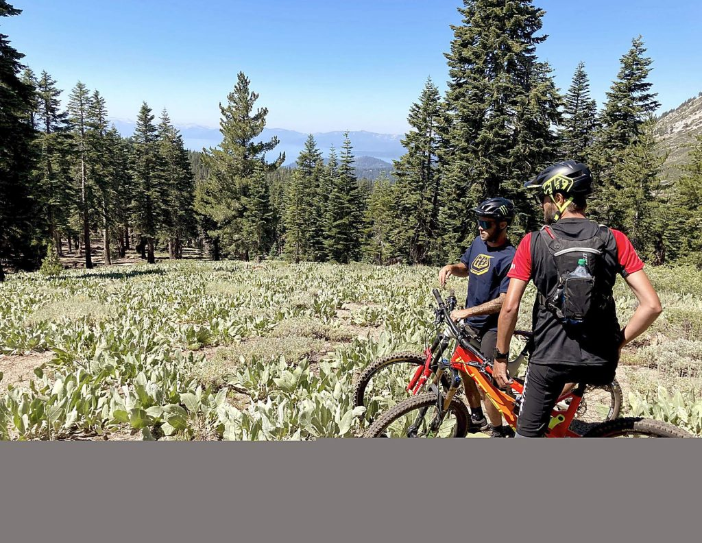 The Tyrolean Downhill Trail in Incline Village features views of Lake Tahoe.
