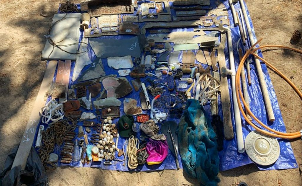 Trash collected from underwater near Incline Village.