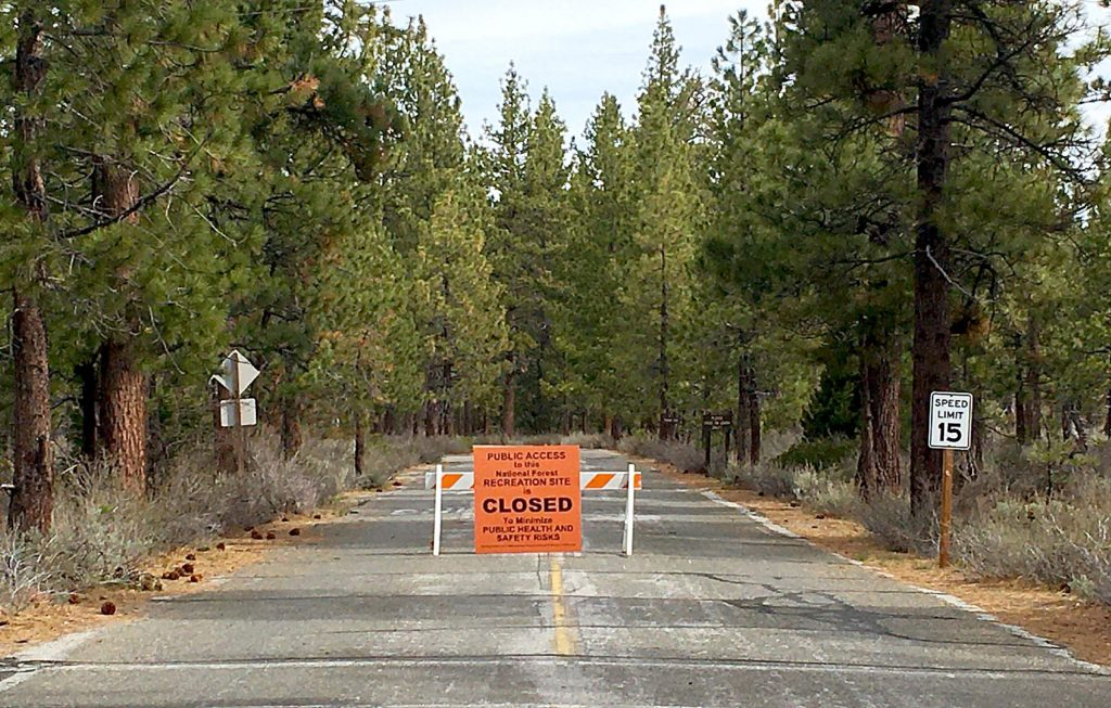 The Forest Service Lake Tahoe Basin Management Unit has put up closed signs.