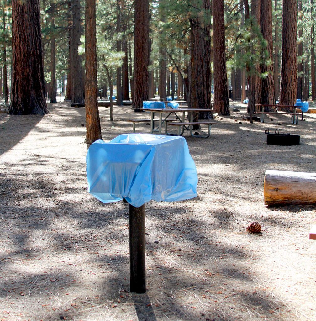The barbecues are closed at the City of Lake Tahoe Campground.