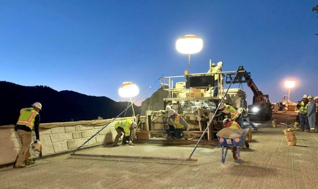 Caltrans finished most of the work on the Echo Summit bridge project at 12:01 a.m. Sunday.