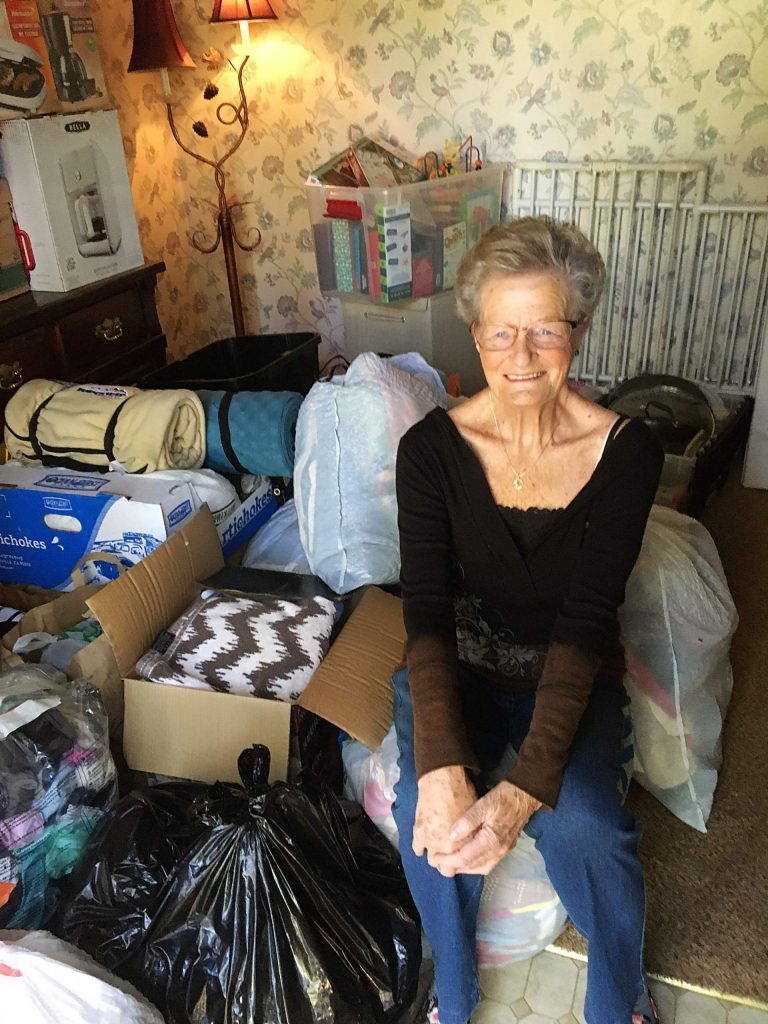 Gladys Nobriga collected a room full of donations for evacuees of the CZU Lightning Complex fires in Santa Cruz.