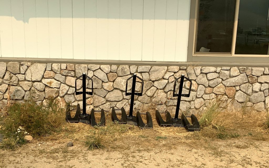 Bike racks were installed at Altitude Training Center in South Lake Tahoe.