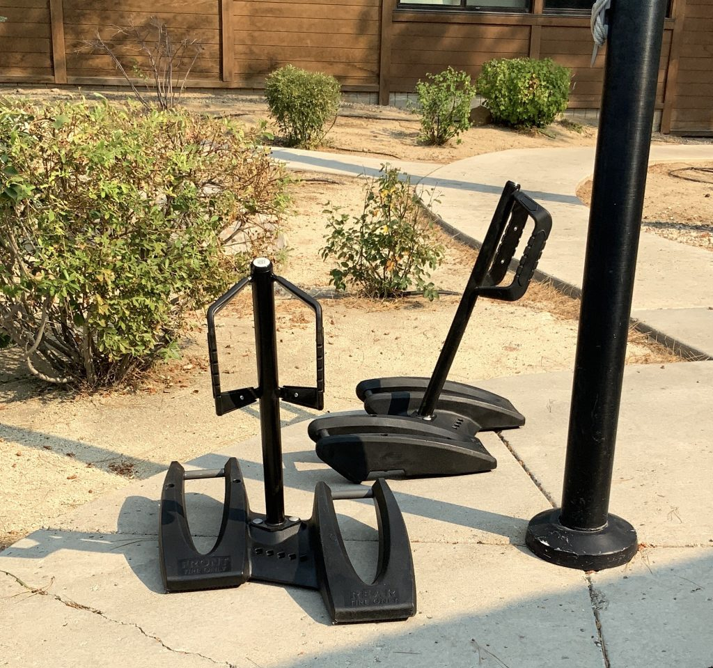 Bike racks were installed at the Incline Village Library.