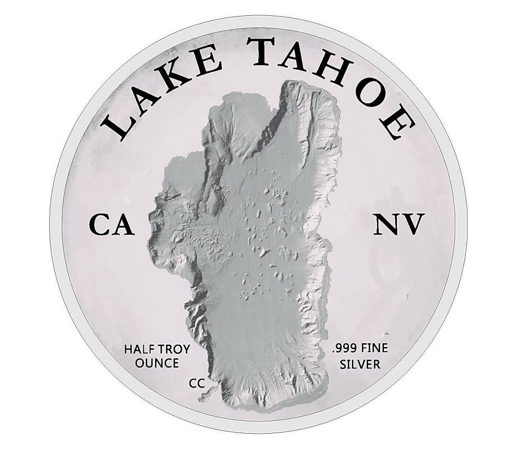 The Lake Tahoe Commemorative Coin from the front.