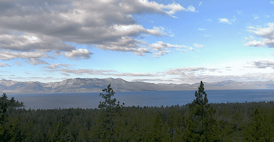 A view of Lake Tahoe Sunday from Zephyr Cove.