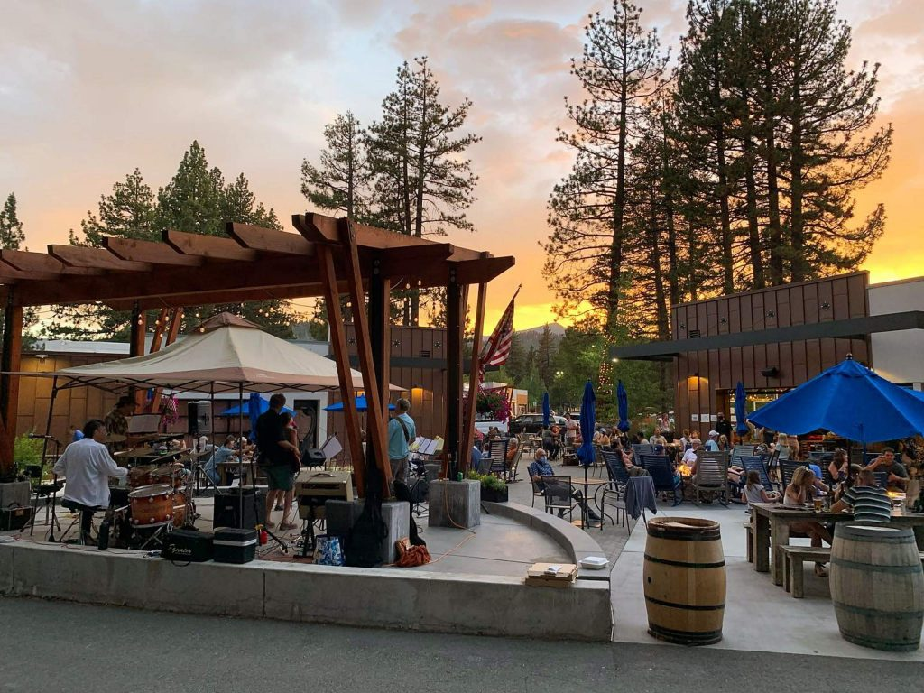 Lake Tahoe AleworX has a large patio at the