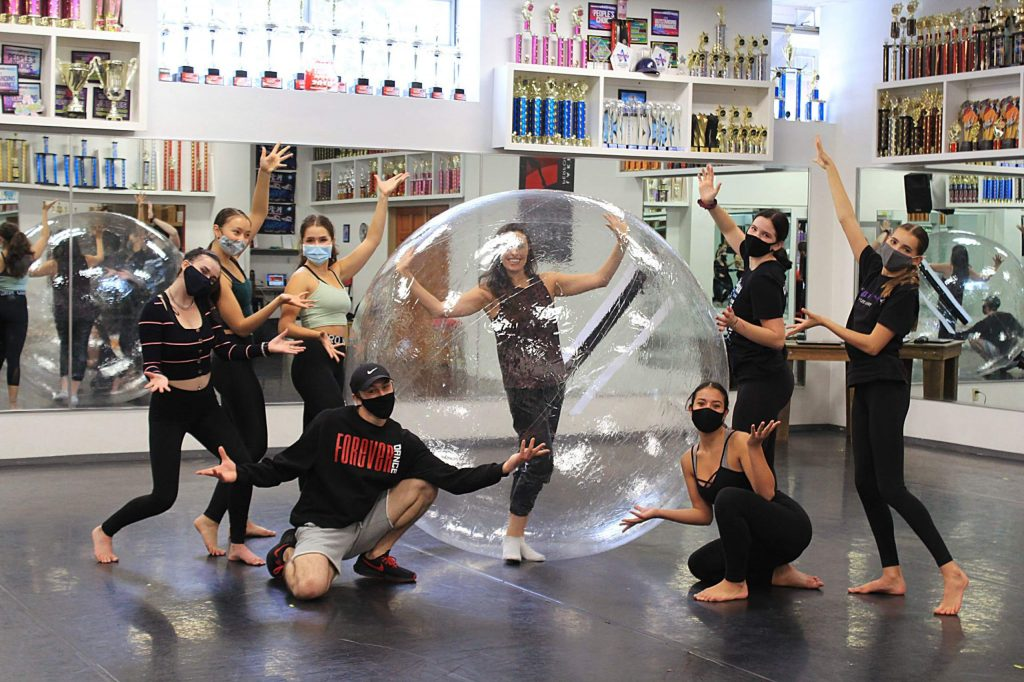 A rehearsal for SnowGlobe music video. Dancers include Shannon Rugani and Forever Dance dancers include Stacy Kennison, Zoë Lacasse-Kirstine, Ashlan Galaviz, Jade Ngyuen, Kaelin Nelson and Lilly Dingman. Dino Elias is the choreographer.