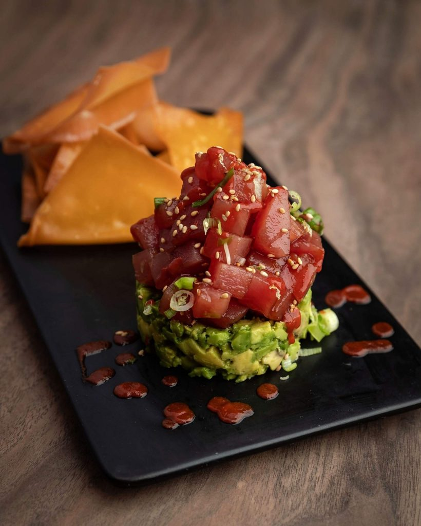Cocktail Corner's Ahi Tuna Poke dish.