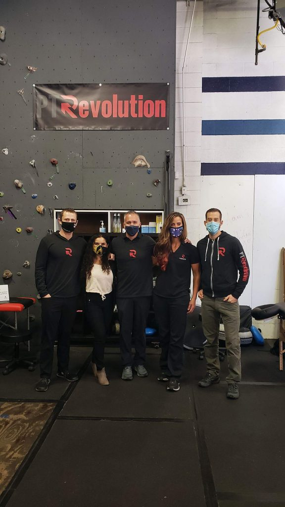 PT Revolution employees include (from left) Ian Anderson, Blanca Geilenfeldt, Jason Collin, Angie Hagenah and Justin Dorn.