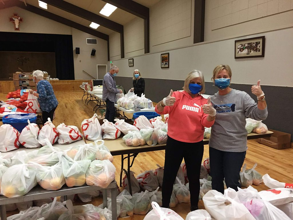 Bread & Broth gave 170 sets of bags of food to the community on Sunday.