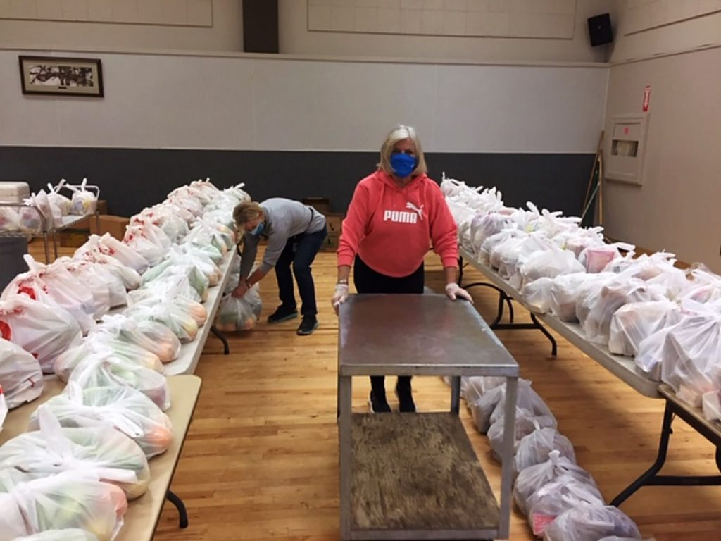 Over 550 individuals were fed with the 170 bags.