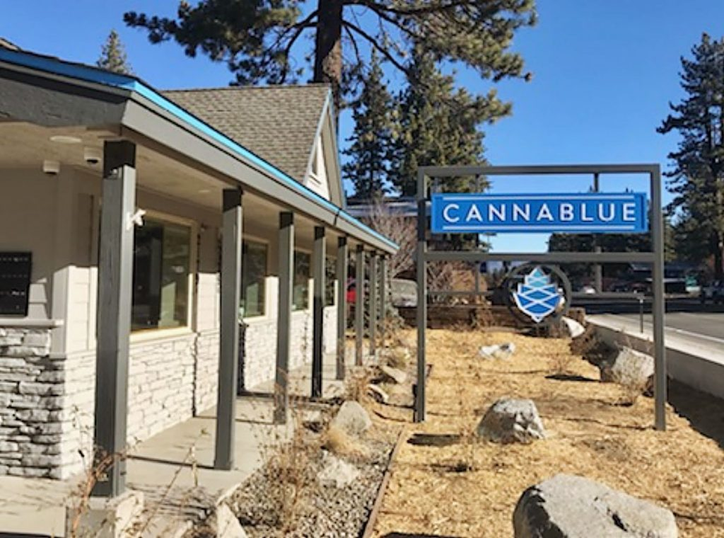Cannablue is located off HIghway 50 in South Lake Tahoe.