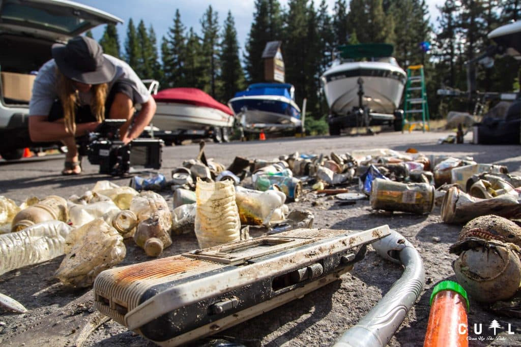 Tires, golf balls, sunglasses, towels, plastic bottles, aluminum cans, iPhones, boat anchors and pieces of boats were some of the items picked from the water.