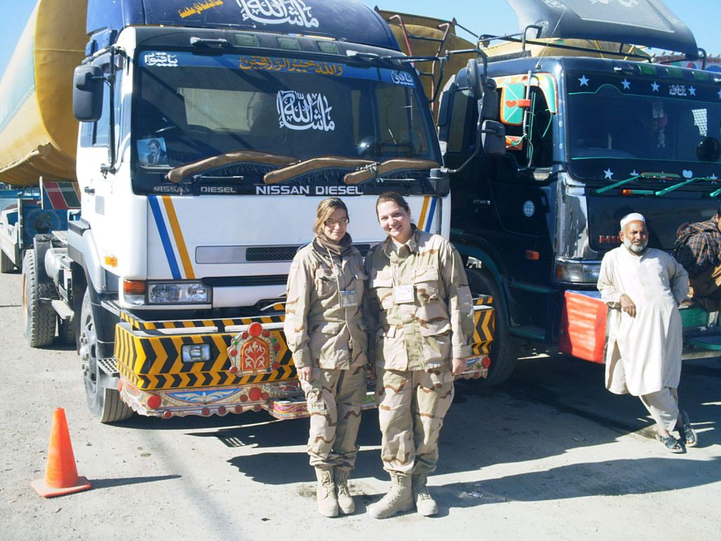 Dorris (left) and Collins (right) met while working in Afghanistan.